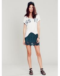 Free People Gray Womens Sugar Magnolia Mini Skirt