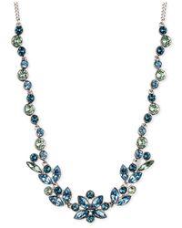Givenchy | Blue Aqua Light Sapphiretone Crystal Collar Necklace | Lyst