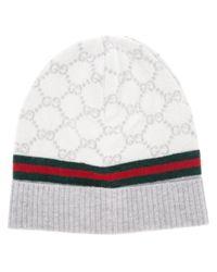 Gucci Natural Monogram Beanie Hat