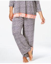 Ellen Tracy | Blue Plus Size Autumn Escape Pajama Pants | Lyst