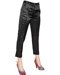 Vivienne Westwood - Black Viscose Satin Trousers - Lyst