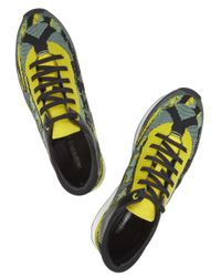 KENZO Yellow and Green Jacquard Trainers