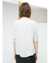 Mango - White Lightweight Printed Shirt - Lyst