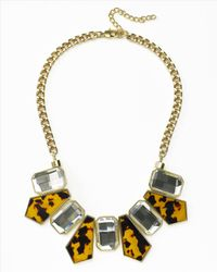 Jaeger | Yellow Tortoiseshell Resin Necklace | Lyst