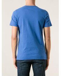 Vivienne Westwood - Blue Logo Print T-Shirt for Men - Lyst