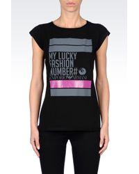Emporio Armani | Black Short Sleeve Tshirt | Lyst
