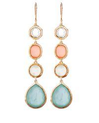 Ippolita Metallic Gold Wonderland Four Stone Drop Earrings