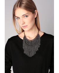 Pieces - Gray Necklace / Longcollar - Lyst