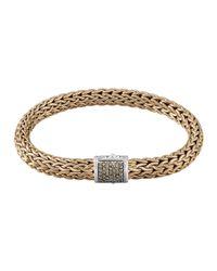 John Hardy | Metallic Men's Classic Chain Diamond Pave Chain Bracelet for Men | Lyst