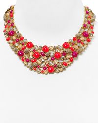kate spade new york | Multicolor Bashful Blossom Bib Necklace, 17"