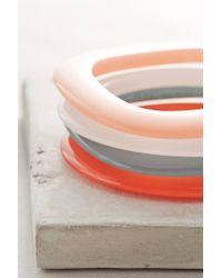 Pono - Pink Colorslice Bangles - Lyst
