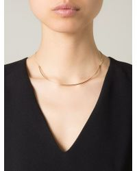 Dafne - Metallic Thin Arch Necklace - Lyst