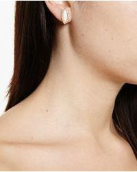 Kimberly Mcdonald | Metallic 18k Yellow Gold White Opal & Diamond Stud Earrings | Lyst