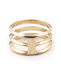 Ileana Makri | Metallic Three Band Ring | Lyst