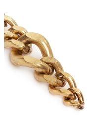 Ela Stone Metallic 'editha' Graduated Chain Earrings