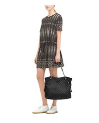 Tory Burch | Brown Marion Quilted Slouchy Tote | Lyst