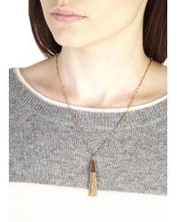 Eddie Borgo Pink Rose Gold Plated Chain Tassle Necklace