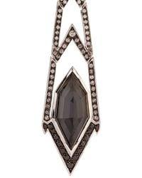 Stephen Webster | Black Diamond, Quartz & White-Gold Earrings | Lyst