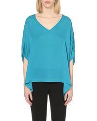 Diane von Furstenberg | Blue Adria Silk Top | Lyst