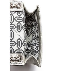 Rebecca Minkoff Metallic Quilted Mini Affair Bag Silver