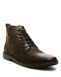 Steve Madden   Black Harrisen Leather Ankle Boots for Men   Lyst
