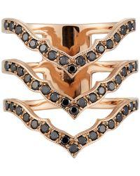 Sara Weinstock | Pink Women's Triple Taj Ring | Lyst