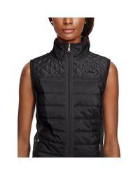 Ralph Lauren | Black Quilted-front Full-zip Vest | Lyst