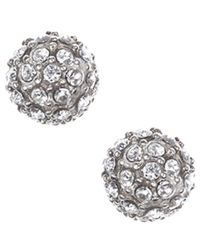 Judith Jack | Metallic Marcasite Stud Earrings | Lyst