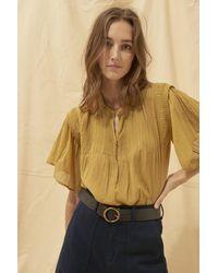 Ba&sh Multicolor Tunic Serena Ochre