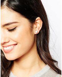 Krystal - White Swarovski Crystal Stud Earrings Two Pair Set - Lyst