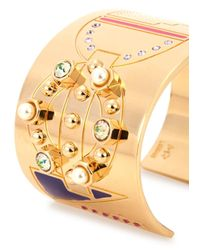 MFP MariaFrancescaPepe | Metallic London 23Kt Gold Plated Cuff | Lyst