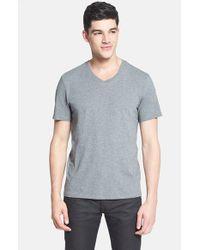 VINCE | Black V-neck T-shirt for Men | Lyst