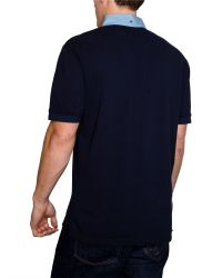 Raging Bull - Blue Chambray Plain Regular Fit Polo Shirt for Men - Lyst