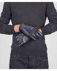 Bottega Veneta - Blue Dark Navy Intrecciato Soft Nappa Gloves for Men - Lyst