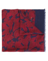 Kiton - Red Printed Scarf - Lyst