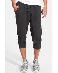 Adidas Originals - Black Adidas Original 'sport Luxe' Three-quarter Fleece Sweatpants for Men - Lyst