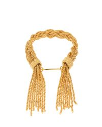 Aurelie Bidermann Metallic Miki Gold-plated Braided Bracelet