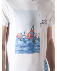 Zegna Sport - White Boat Print Tshirt for Men - Lyst