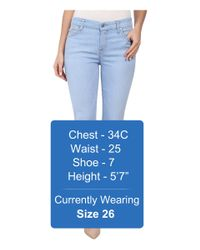 7 For All Mankind - Blue Crop Skinny W/ Contour Waistband In Bleached Aquamarine - Lyst