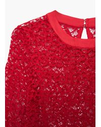 Mango | Red Lace Top | Lyst