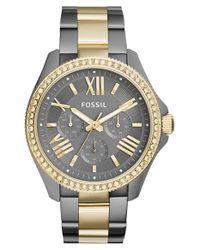 Fossil - Metallic 'cecile' Crystal Bezel Multifunction Bracelet Watch - Lyst