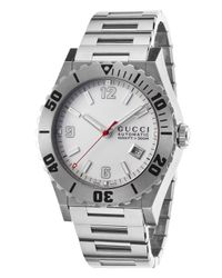 Gucci | Metallic Men's Pantheon Automatic Stainless Steel White Dial for Men | Lyst