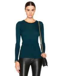 Yigal Azrouël | Blue Cold Shoulder Sweater | Lyst