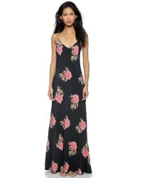 Blue Life | Blue Boho Beauty Dress - Black Peach Floral | Lyst