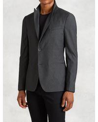 John Varvatos | Gray Peak Lapel Soft Jacket for Men | Lyst