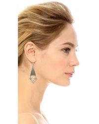 Lulu Frost Metallic Lucent Earrings - Clear/antique Silver