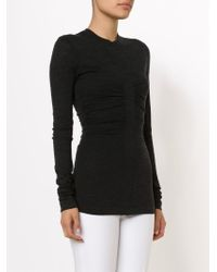 Narciso Rodriguez - Black Ruched Detail T-Shirt - Lyst