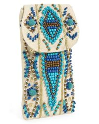 Berry | Blue Beaded Sunglasses Case | Lyst