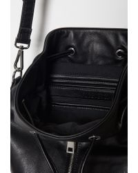 Forever 21 Black Faux Leather Bucket Bag