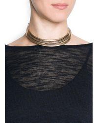 Mango - Metallic Necklace A Rey1 C - Lyst